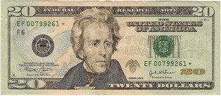 Двадцать долларов США (аверс), 20$