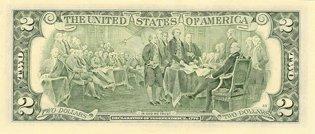 Два доллара США (реверс), 2$