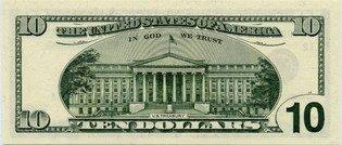 Десять долларов США (реверс), 10$