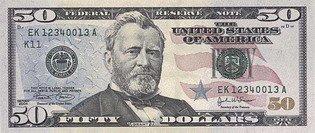 Новые пятьдесят долларов США (аверс), 50$