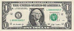 Один доллар США (аверс), 1$