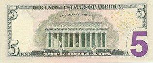 Пять долларов США (реверс), 5$