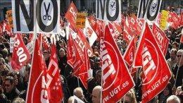 Забастовки в Испании закончились потасовками